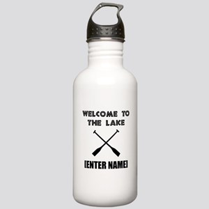 Welcome Lake [Personalize It!] Water Bottle